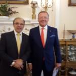 Con l'Ambasciatore Russo